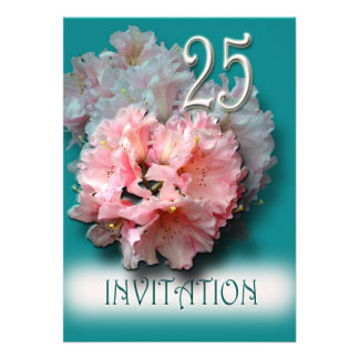 Invitación del aniversario de bodas de plata