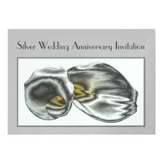 Invitación del aniversario de bodas de plata invitación 12,7 x 17,8 cm