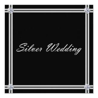 Invitación del aniversario de bodas de plata con