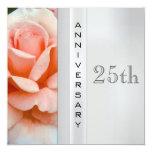 Invitación del aniversario de bodas de plata del invitación 13,3 cm x 13,3cm