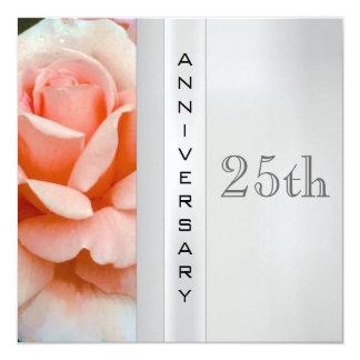 Invitación del aniversario de bodas de plata del