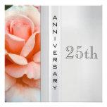 Invitación del aniversario de bodas de plata del r