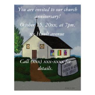 Invitación del aniversario de la iglesia