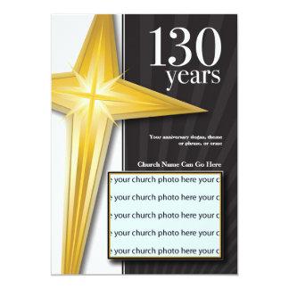 Invitación del aniversario de la iglesia de 130