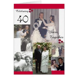 Invitación del aniversario de McGowen 40.o Tarjeta De Felicitación