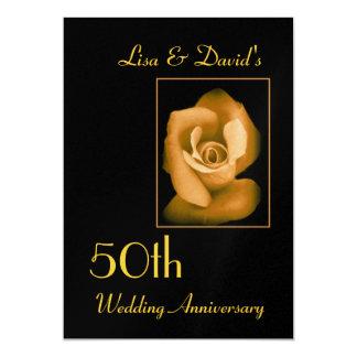 Invitación del aniversario del oro 50.o - oro