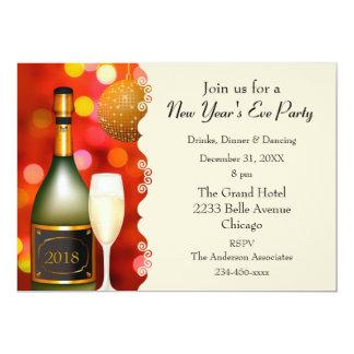 Invitación del Año Nuevo de la bola de discoteca