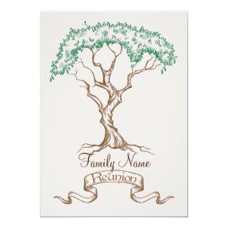 Invitación del árbol de la reunión de familia