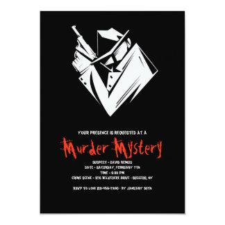 Invitación del asesinato del misterio del Whodunit