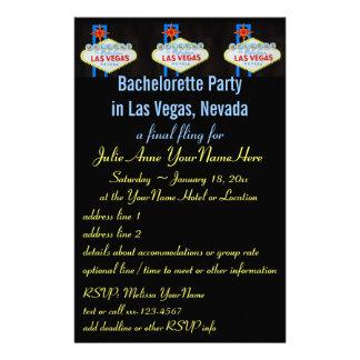 Invitación del aviador del fiesta de Las Vegas Bac Papeleria