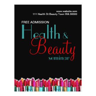 Invitación del aviador del seminario de la belleza