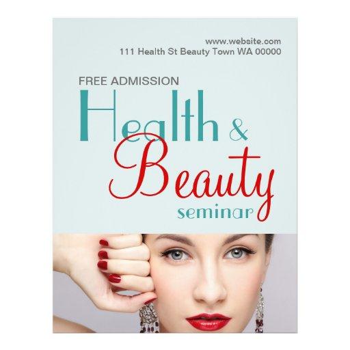 Invitación del aviador del seminario de la belleza tarjetas publicitarias