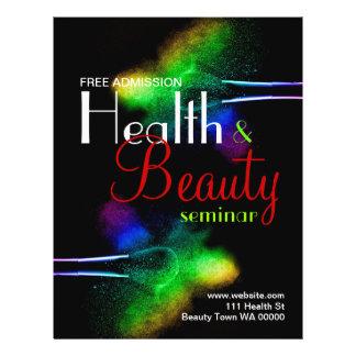 Invitación del aviador del seminario de la belleza tarjetas informativas