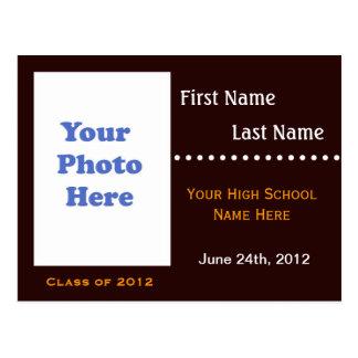 Invitación del aviso de la graduación de estudios postal