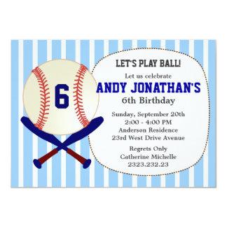 Invitación del azul de la fiesta del cumpleaños