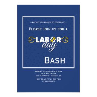 Invitación del azul del Día del Trabajo