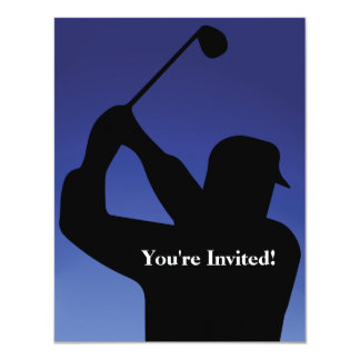 Invitación del azul del golf de los hombres