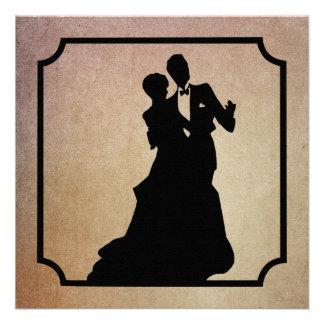 Invitación del baile de la tarjeta del día de San