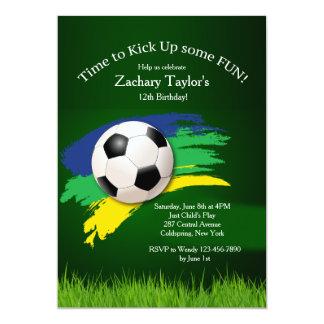 Invitación del balón de fútbol