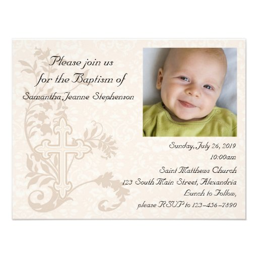 Invitation To Be Godparents is good invitations design
