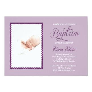 Invitación del bautismo de la lila