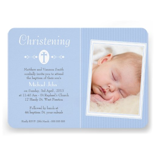 Invitación del bautismo del bautizo de la foto de
