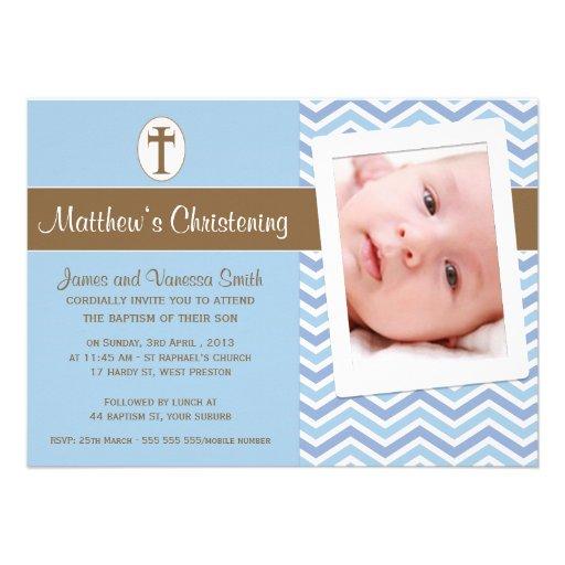 Invitación del bautismo del bautizo de los muchach