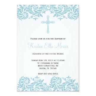 Invitación del bautismo del bautizo del damasco
