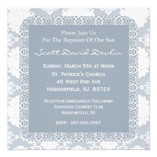 Invitación del bautismo del bautizo para el muchac