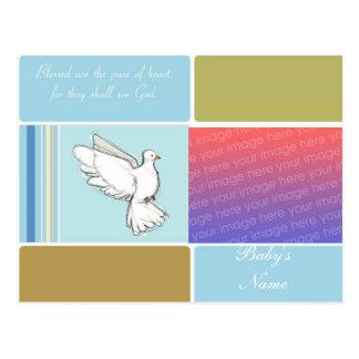 Invitación del bautismo/del bautizo tarjetas postales