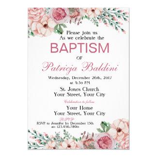 Invitación del bautismo floral