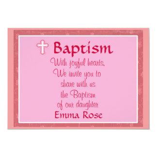 Invitación del bautismo para un chica