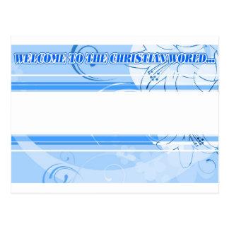 Invitación del bautismo postal