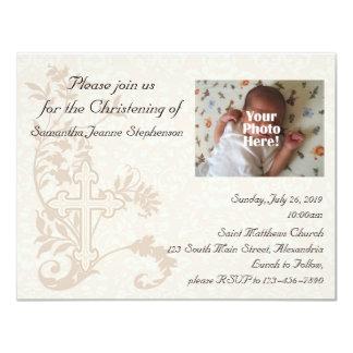 Invitación del bautizo de la foto del bebé