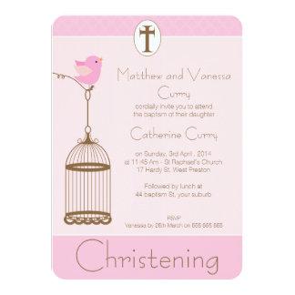 Invitación del bautizo del bautismo del Birdcage
