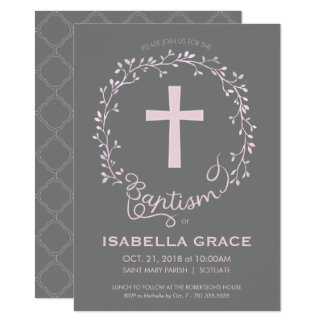 Invitación del bautizo del bautismo - la niña