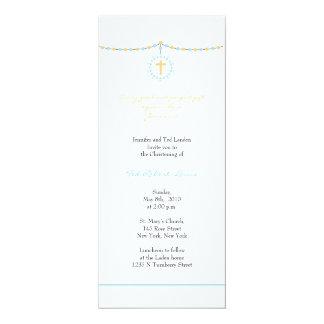 Invitación del bautizo del muchacho