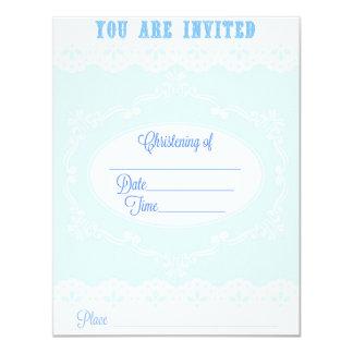 Invitación del bautizo para un muchacho