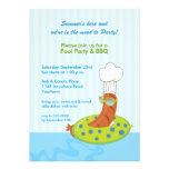 Invitación del Bbq de la fiesta en la piscina