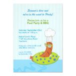 Invitación del Bbq de la fiesta en la piscina Invitación 12,7 X 17,8 Cm