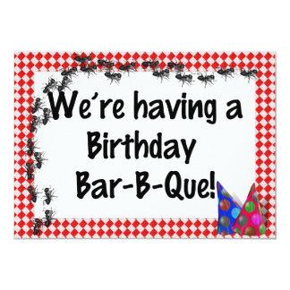 Invitación del Bbq del cumpleaños del verano