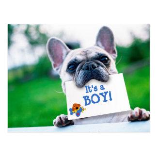 Invitación del bebé con personalizado del perro