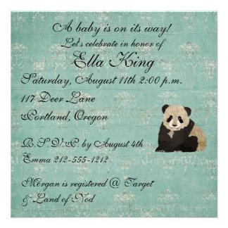 Invitación del bebé de los osos de panda