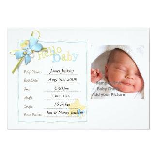 Invitación del bebé del bebé recién nacida invitación 12,7 x 17,8 cm
