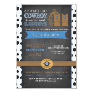Invitación del bebé del vaquero del tablero de invitación 12,7 x 17,8 cm