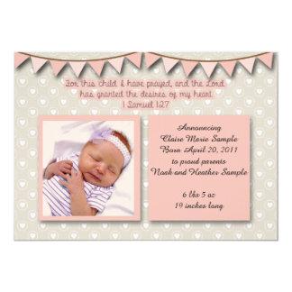 Invitación del bebé, escritura cristiana para el