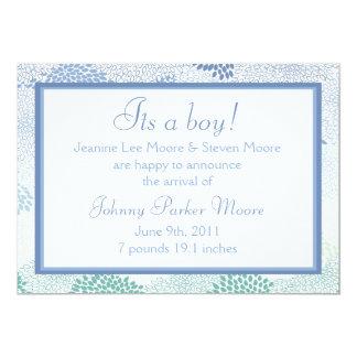 ¡Invitación del bebé (muchacho)! Invitación 12,7 X 17,8 Cm