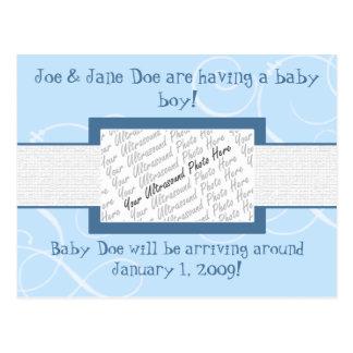 Invitación del bebé postal