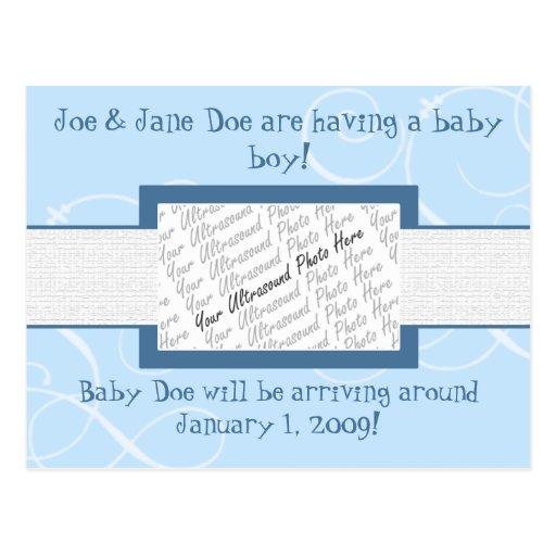 Invitación del bebé postales