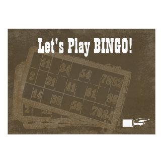 Invitación del bingo del vintage